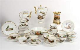 Group of Paris Porcelain Coffee and Tea Services