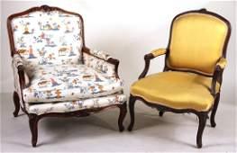 Louis XV Beechwood Fauteuil