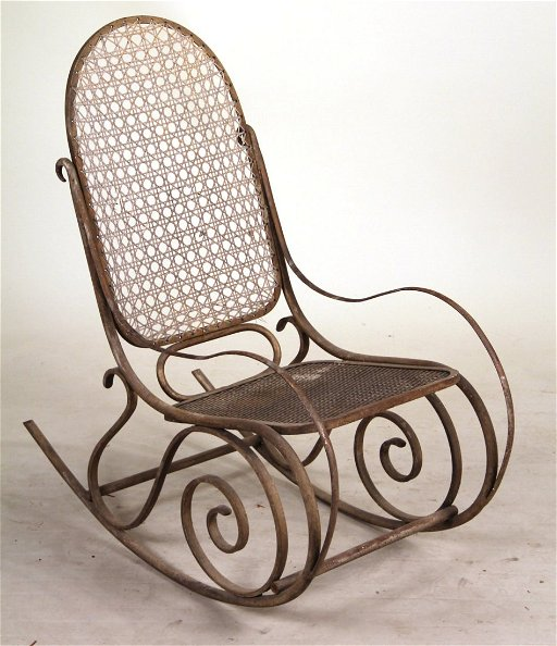 Admirable Iron Rocking Chair Attr To R W Winfield Co Squirreltailoven Fun Painted Chair Ideas Images Squirreltailovenorg