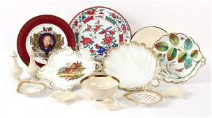 Group of Porcelain Plates and Table Articles