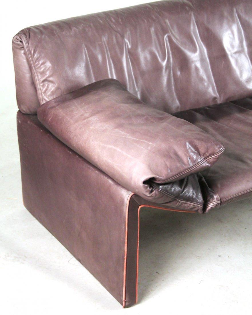 Etienne Aigner Black Leather Sofa - 2
