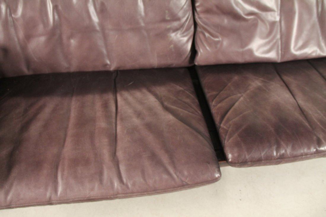 Etienne Aigner Black Leather Sofa - 3