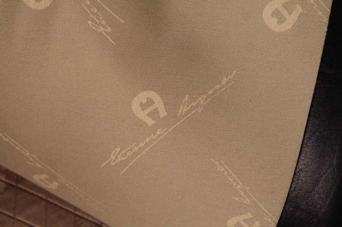 Etienne Aigner Black Leather Sofa - 4