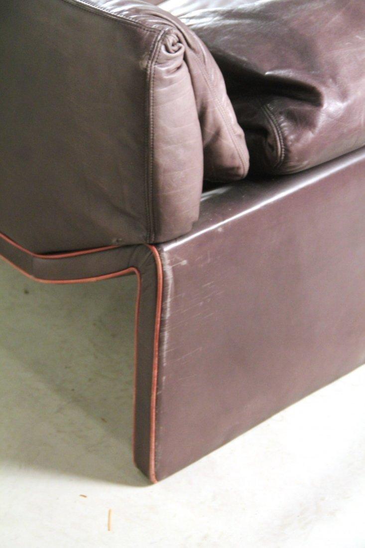 Etienne Aigner Black Leather Sofa - 6