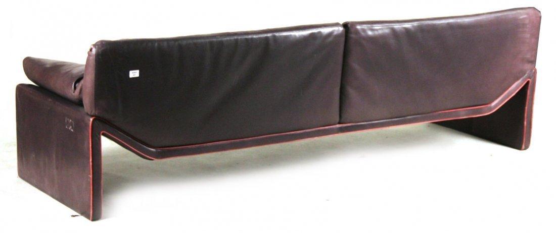 Etienne Aigner Black Leather Sofa - 7