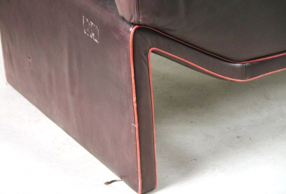 Etienne Aigner Black Leather Sofa - 8