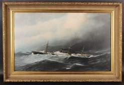 Oil on Canvas on Board, Antonio Jacobsen