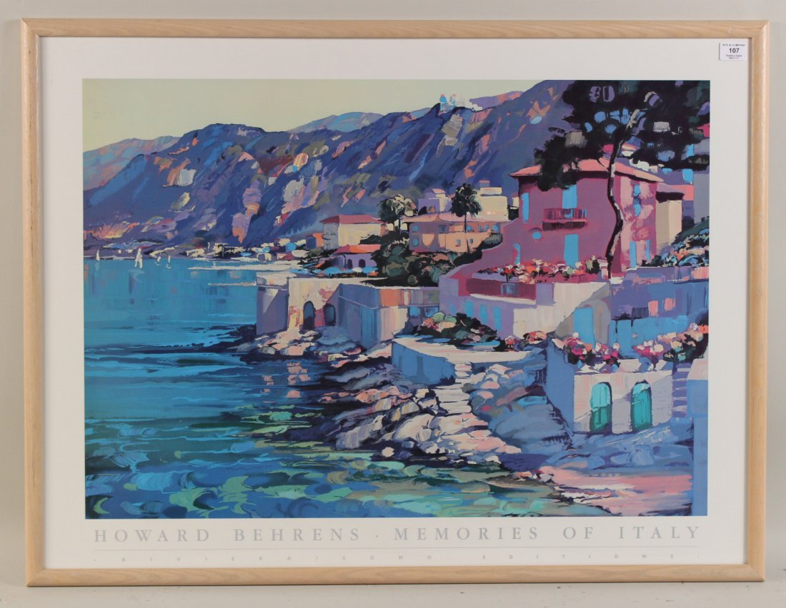 "Color Poster, ""Howard Behrens Memories of Italy"""