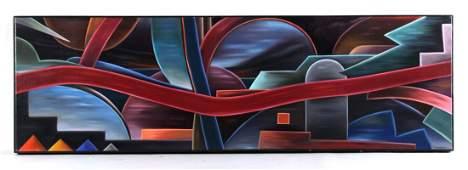 "Oil on Canvas, ""Pullman Court,"" William Conger"