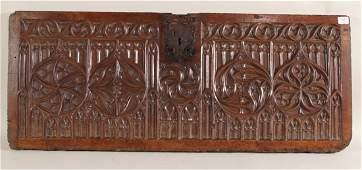 Carved Walnut Cassone Fragment