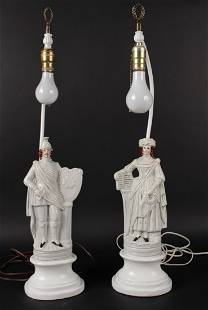 Pair of Staffordshire Porcelain Figures