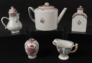 Five Chinese Export Porcelain Articles