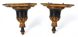 Pair of Neoclassical Style Wall Shelves