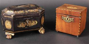 Chinese Lacquer and Gilt Box