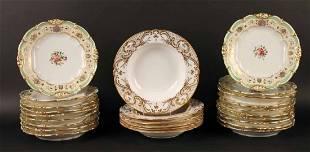 Nineteen Ed. Honore Paris Porcelain Plates