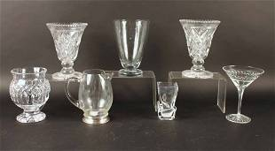 Colorless Glass Sterling Silver Mounted Pitcher