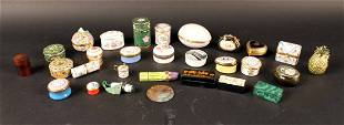 Collection of Limoges, Cartier and Halcyon Boxes