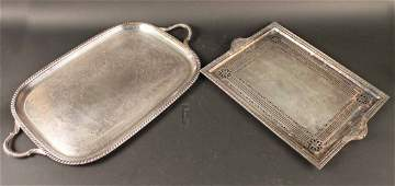 Two Silver Plated Trays