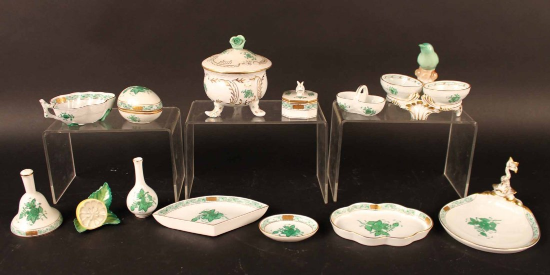 "Herend Porcelain ""Apponyi"" Pattern Table Articles"