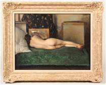 Oil on Board, Nude Woman, Romano Stefanelli
