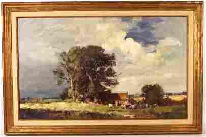 Oil on Board, Landscape, Edward Seago