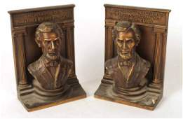 Pair of B & H Abraham Lincoln Bookends