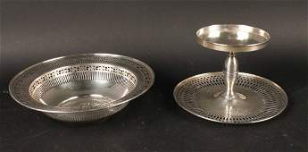 Two Reticulated Sterling Silver Serving Pieces