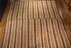 Two Striped Cotton Woven Rugs