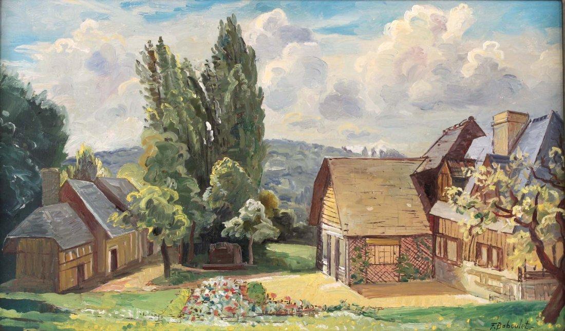 Oil on Canvas, French Village, Francois Baboulet - 2