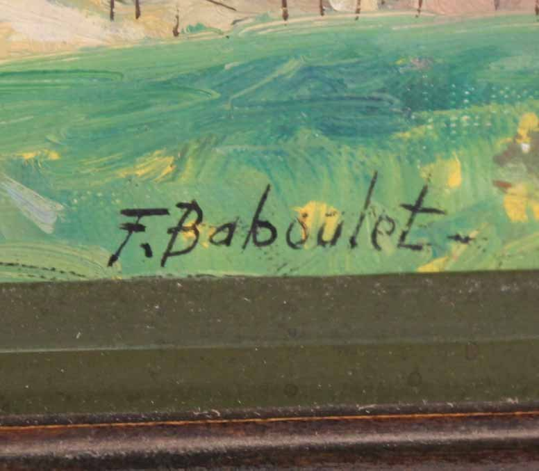 Oil on Canvas, French Village, Francois Baboulet - 3