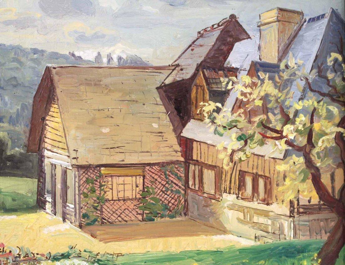Oil on Canvas, French Village, Francois Baboulet - 4