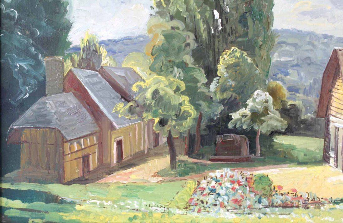 Oil on Canvas, French Village, Francois Baboulet - 5