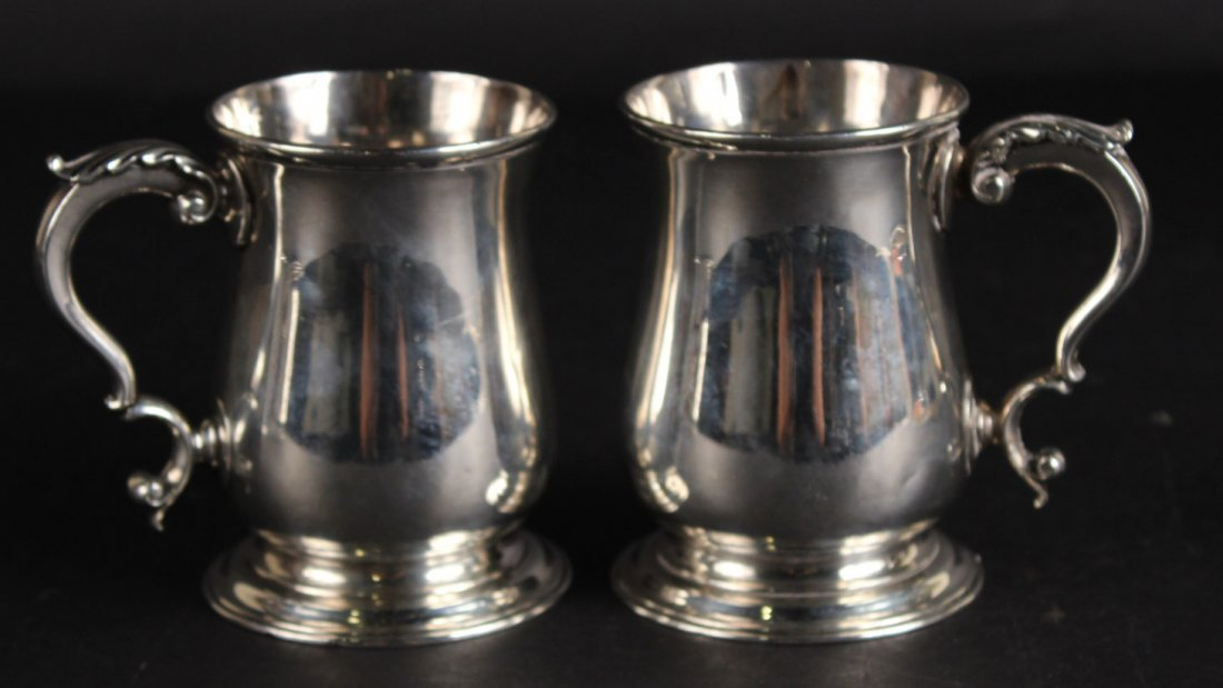 Pair of Georgian, Silver Tankards