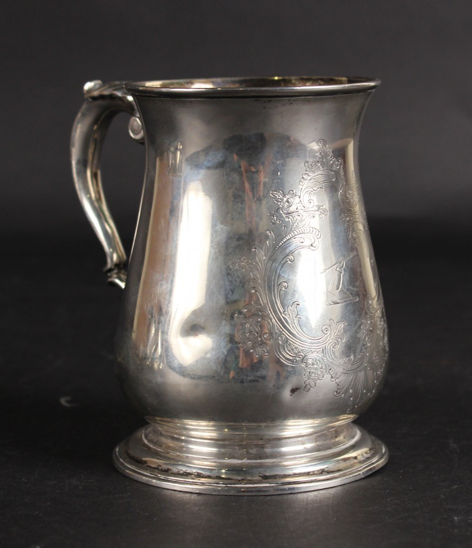 English Georgian Silver Oversized Tankard