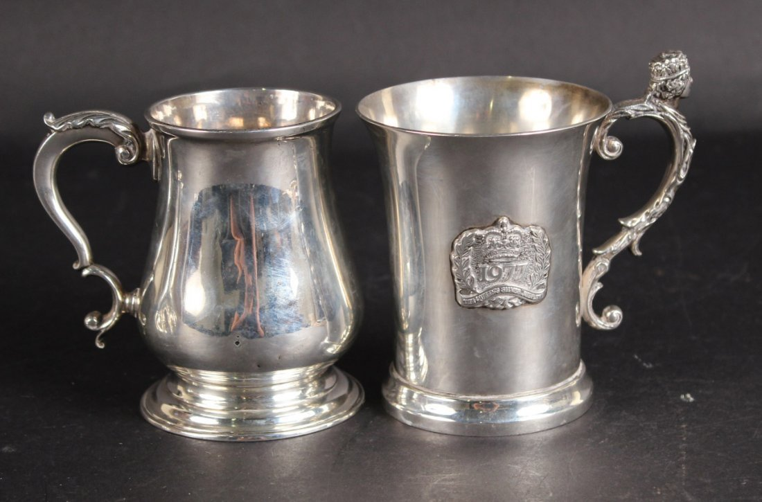 Georgian English Silver Tankard