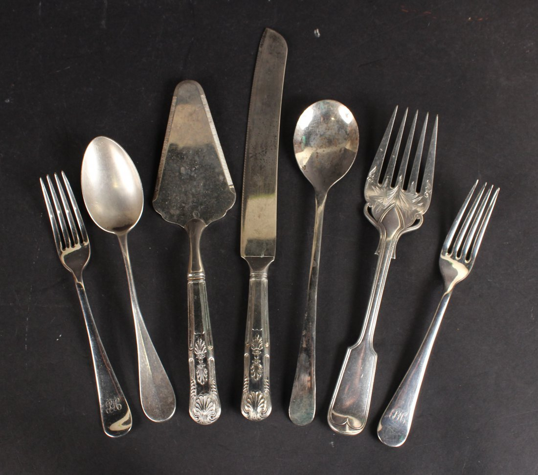 English Silver Plated Flatware Serving Pieces