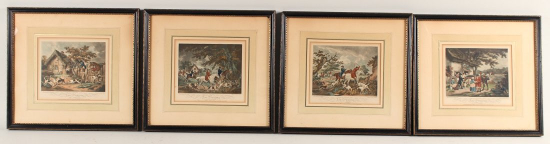 Four Engravings, Fox Hunting, George Morland