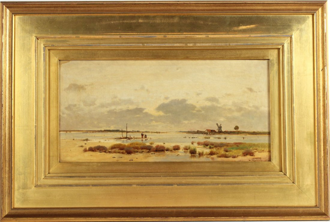 Oil on Board Dutch Landscape, Ludwig Neubert