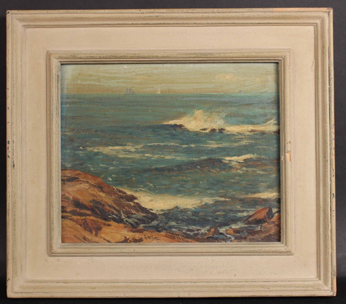 Oil on Board, Seascape, George William Sotter