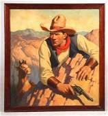 Oil on Canvas Old West Illustration