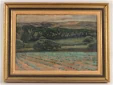 Oil on Canvas, Bucolic Landscape, Edgar H. Nye