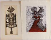 Two 1960's Etchings, Richard Royce