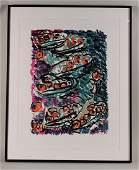 Woodcut, Abstract Still Life, Judy Rifka