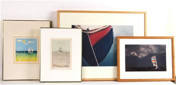 "Print, ""No 40 Red Boat,"" Robert Farber"