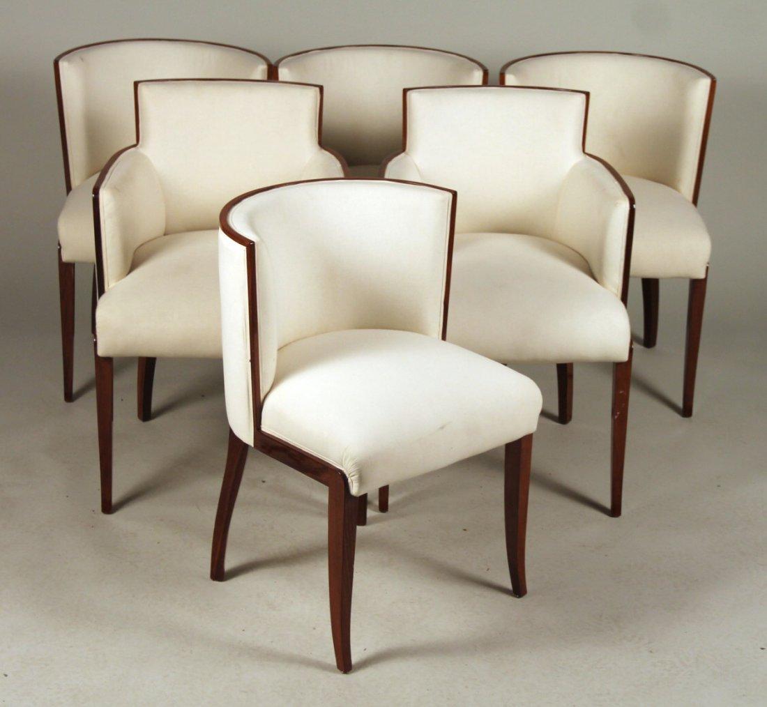 Six Art Deco Mahogany Dining Chairs