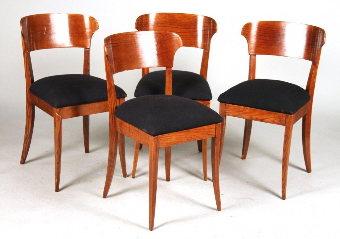 Four Danish Modern Teak Side Chairs