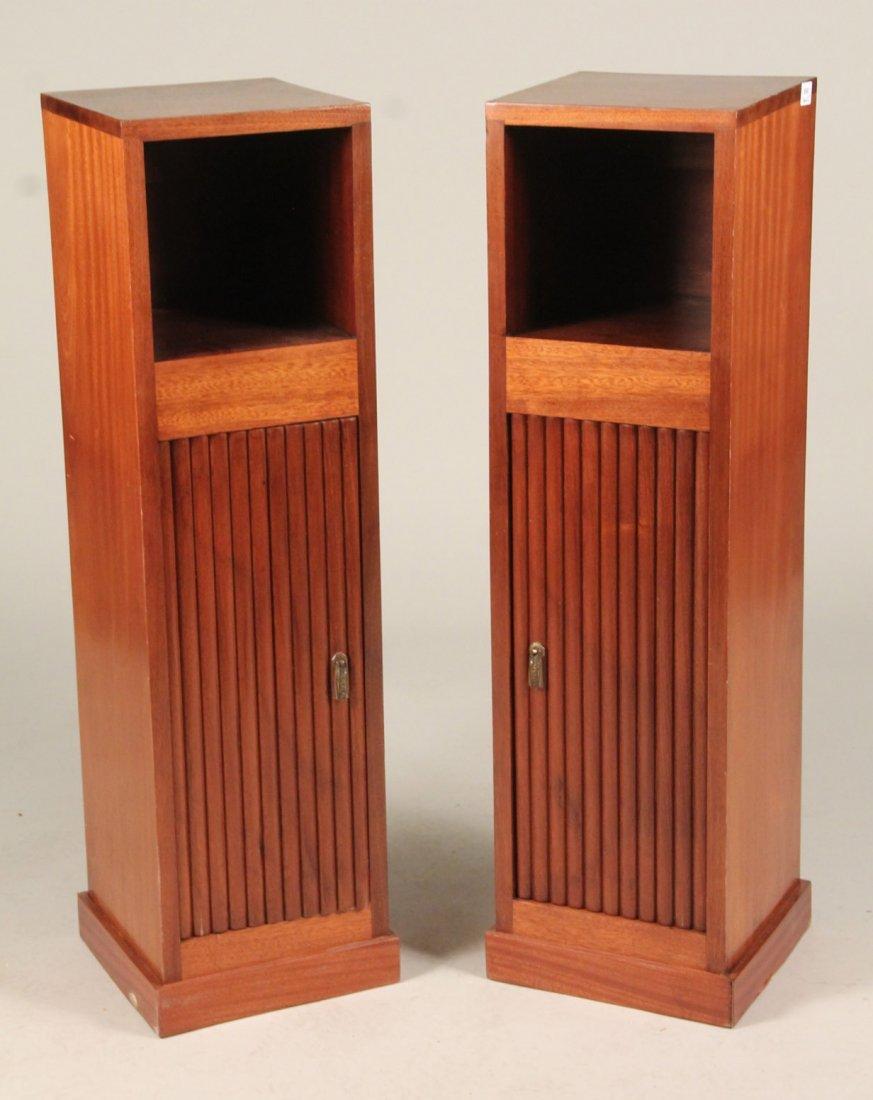 Pair of Art Deco Mahogany Pedestal Stands