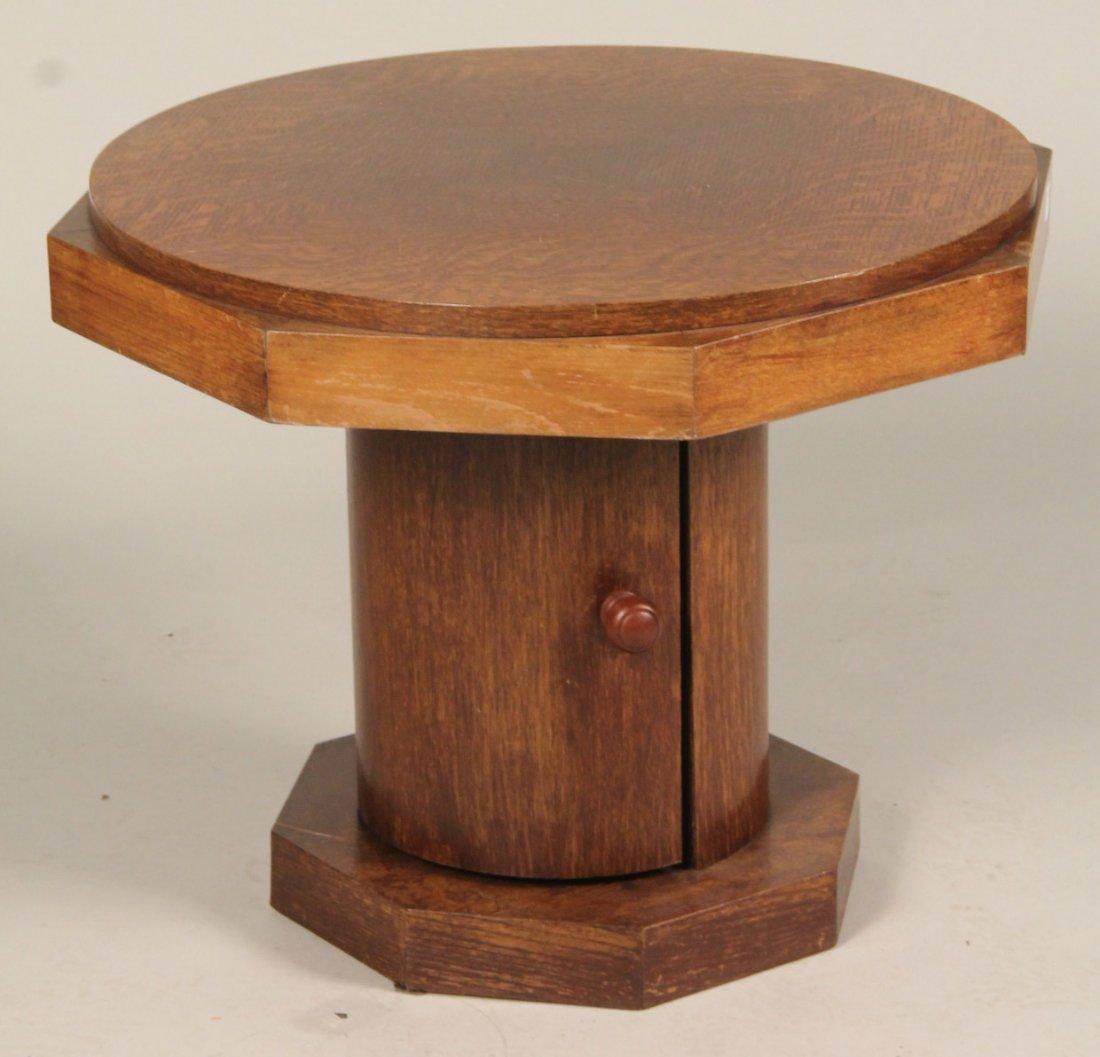 Modern Oak Octagonal Bar Low Table