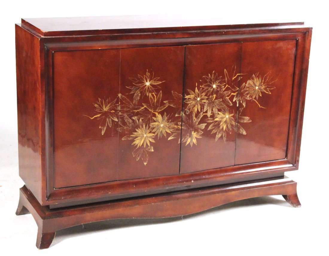 Chinese Style Lacquered Bar Cabinet