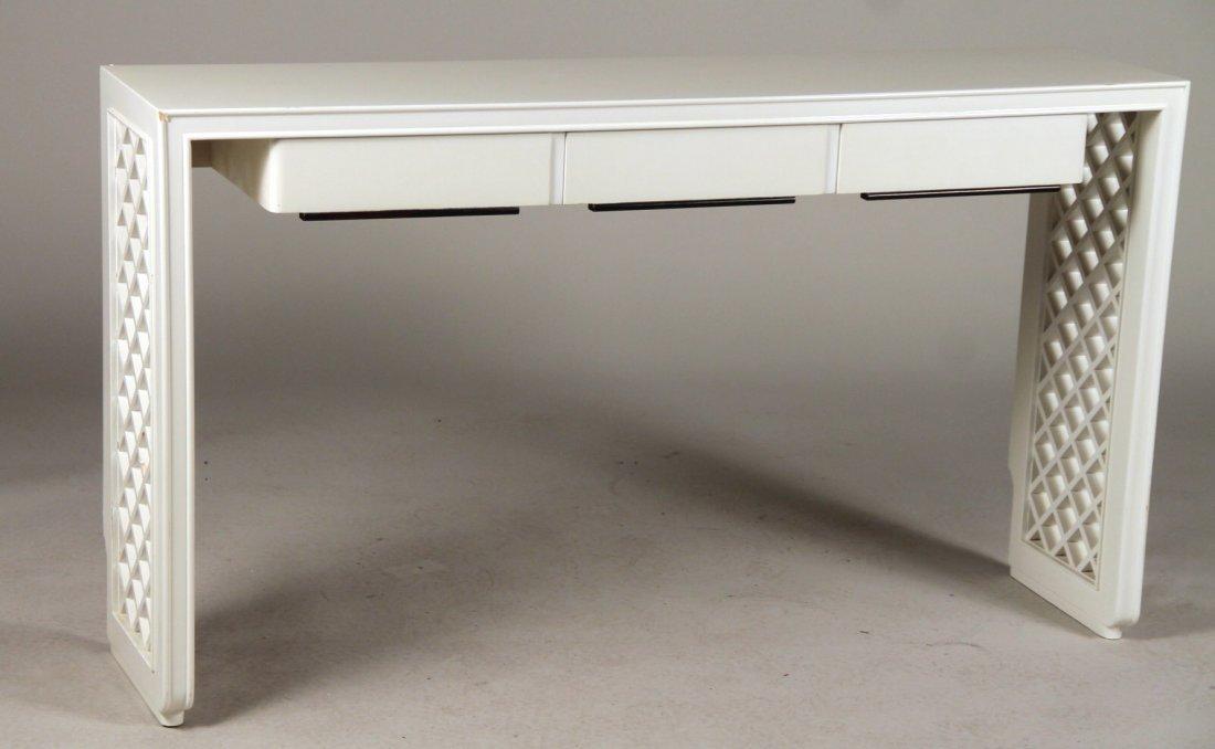Art Deco White-Lacquer Console Table